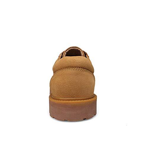 Uso Para Estilo Cómodas Moda Cuero Tamaño color Botas Clásico Zhangcaiyun Hombres 38 Gold Oxford De Zapatos Botines Gold Negocios Trabajo Británico Eu 8q7Ot