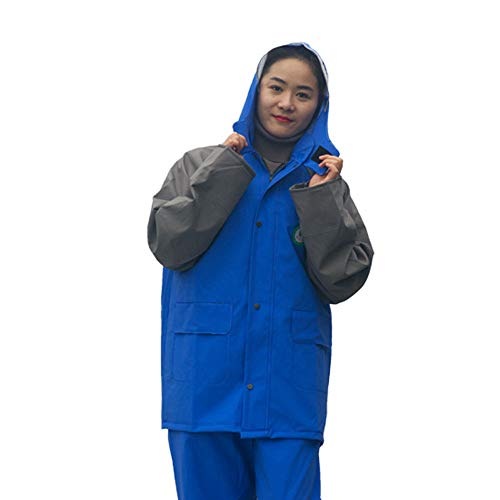 Adulto Moto Blue Donne In Guyuan Auto E Maglia Sul Assicurazione Ash Indumenti Spessore Set Impermeabile Uomini Elettrica Divisa Tessuto Spessa Lavoro Impermeabili A Doppio W6BfZS6
