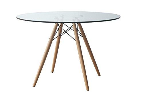 Plata Import Eiffel Glass Dining Table-28'' Plata Décor Import Inc GT-017A-28