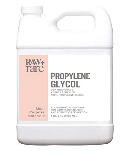Propylene Glycol, Food Grade 100% Pure USP Solution, Kosher, Humidor, Humectant, Fog Machine & Antifreeze by Raw Plus Rare (Gallon)]()