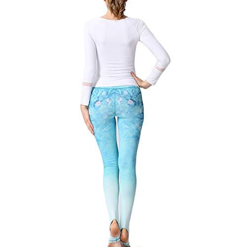 ballo Libero Pantaloni pantacollant yoga Tempo Pantaloni Piede da Donna Abbigliamento nuovo Yh50 yoga da Fitness Pantaloni Il MUCHAO Stampa calpestare UqwxgRFU