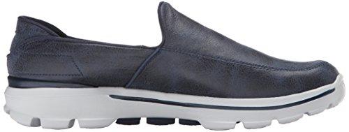 Skechers rendimiento GB marcha Leathertex Walking Shoe 3 Multicolor - Navy/Gray