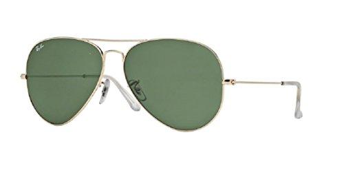 Ray Ban RB3025 001 62M Gold/Gray Green Aviator + FREE Complimentary Eyewear Care Kit ()