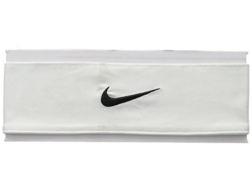 (Nike Unisex Dri-Fit Head Tie 2.0 White/Black One Size)