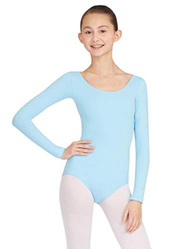 Capezio Women's Long Sleeve Leotard,Light Blue,X-Small