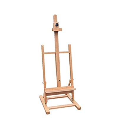 Hong Jie Yuan Easel - Tabletop Easel Small Wood Easel Painting Display Easel Sketch Oil Easel 82~117 cm Wooden Display Rack - Easy to Assemble