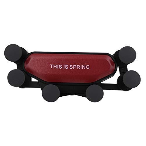 goalBY Universal Car Mount Holder Gravity Bracket for Cell Phones Smartphone Red
