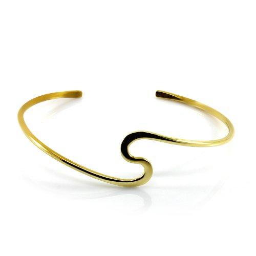 Mgd, 20mm de large en forme de S Tour de Bras réglable haut du bras Bracelet, Doré Laiton, taille unique, bijoux tendance pour femme, Je-0116m