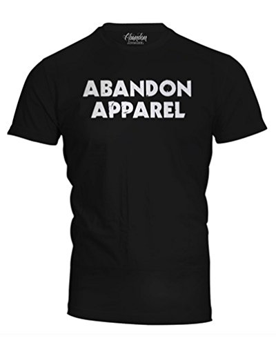 Abandon Apparel Men's Distressed Logo T-Shirt 3X-Large Black