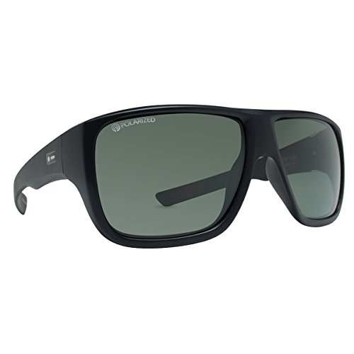 Dot Dash Unisex Aperture Polarized Sunglasses, Black Satin w/ Grey Poly, - Dot Glasses Pin
