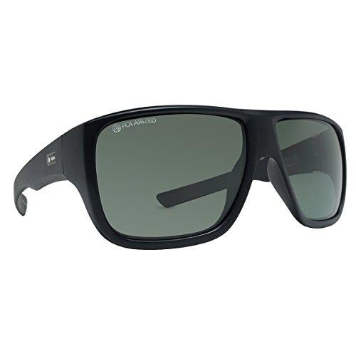 Dot Dash Unisex Aperture Polarized Sunglasses, Black Satin w/ Grey Poly, - Pin Dot Glasses