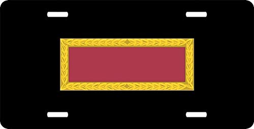 US Army Meritorious Unit Commendation Ribbon Personalized Auto Truck Car Front Tag Military Aluminum Metal License Plate Frame Cover 12 x 6 Inch (Unit Commendation Meritorious Ribbon)