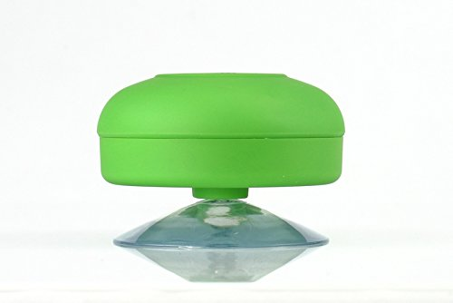 Coisound new Round Waterproof Wireless Bluetooth Shower Speaker Handsfree Speakerphone Compatible with All Bluetooth Devices Iphone 5s and All Android Devices, Great Fun for your Shower and outdoor trip. (A-green)