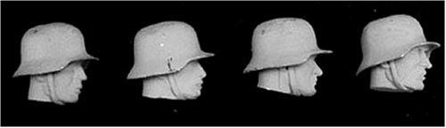アンドレアミニチュアズ S5-A3 4 German Heads with Helmet