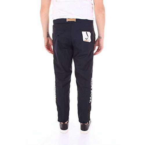 18su16351bnblue Uomo Pantaloni Sand Blu Cotone White xzqBY0awz
