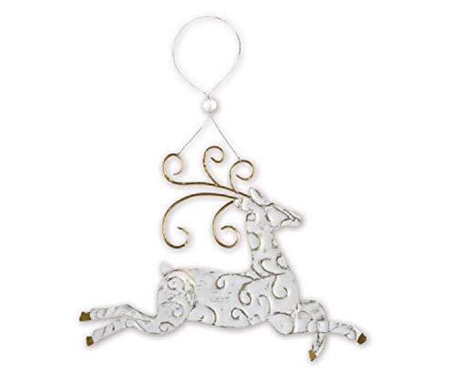Sunset Vista Christmas Reindeer Embossed Hanging Ornament ()