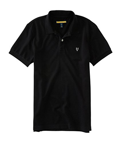 Aeropostale Men's Prince & Fox Solid Stretch Pique Polo XSmall Black (Solid Stretch Pique Polo)