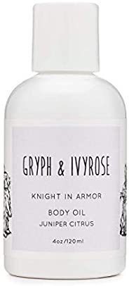 Gryph and IvyRose Knight In Armor Body Oil for Babies and Adults - Hibiscus, Goji Berry, and Citrus Peel Skin