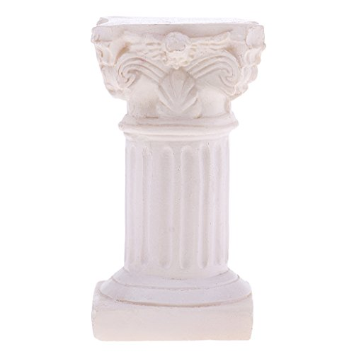 Baoblaze Resin Roman Column Marbel Pillar Model Statue for Sandplay Sand Table Game Kits 1.37 x 1.37 x 2.63inch