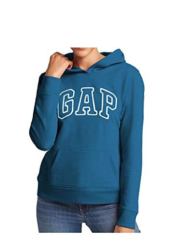 GAP Womens Fleece Arch Logo Pullover Hoodie (Royal Tea, Medium) from GAP