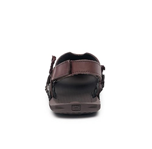 40 Sandali Uomo Dark con Marrone Brown Scennek Zeppa TqxAg80