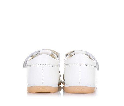 BOBUX - Weißer Step Up I-Walk Skip Schuh aus atmungsaktivem Leder, äußerst flexibel, er erlaubt eine freie Entwicklung, Unisex Kinder