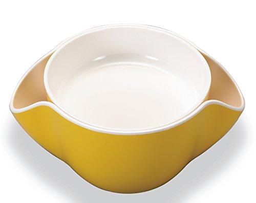 Kody Double Dish for Pistachios, Peanuts, Edamame, Cherri...