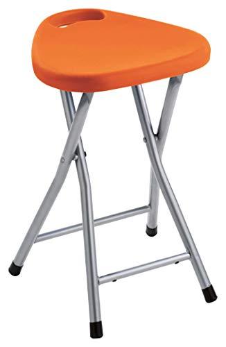 Gedy CO75 Taburete Plegable, Resinas termoplasticas, Naranja, 46,5x30x29,3 cm
