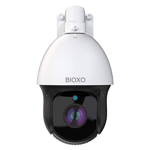 20X Optical Zoom IP Auto Tracking Outdoor Pan Tilt Zoom Security Camera, Bioxo 1080P High Speed ONVIF PTZ Dome Camera 328ft Night Vision IP66 Waterproof Two-Way Audio PTZ Camera, Support Max 128GB SD