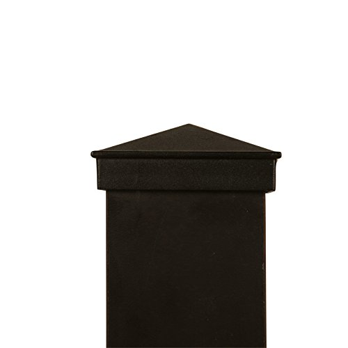 3x3 Black Aluminum Finial Post - Cap Post Finial