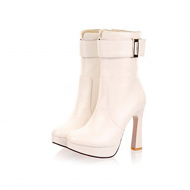 RTRY Women'S Boots Spring Fall Winter Platform Comfort Novelty Patent Leather Leatherette Wedding Office &Amp; Career Dress Casual Party &Amp; Evening US4-4.5 / EU34 / UK2-2.5 / CN33 9Jmqdk
