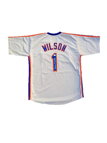 Mookie Wilson New York Mets Away Gray Autographed Signed Jersey JSA Authentic -