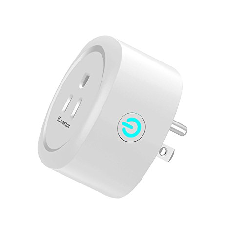 iCoostor Wi-Fi Smart Plug Mini Outlet: Wireless Wi-Fi Outlet Plug To Remote Control Smart Home & Devices  Energy Saving Smart Socket with Timer  Compatible with Alexa Echo, Google Home (WP1-1-White)