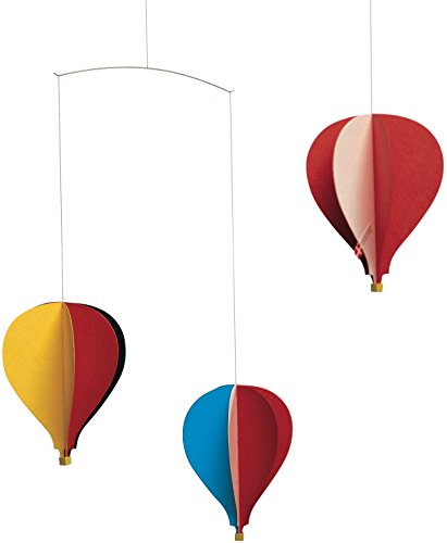 Flensted Mobiles Balloon 3 Hanging Nursery Mobile - 18 Inches (Hanging Paper Mobile)