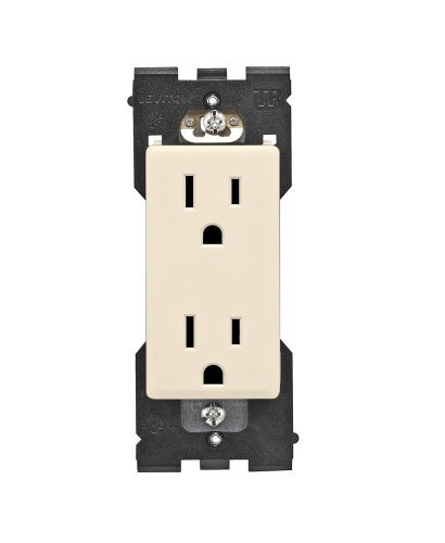 Leviton RER15-GC Renu Tamper-Resistant Outlet, 15-Amp, 125VAC, Gold Coast - Outlet Gold Coast