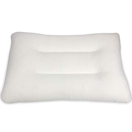 Cheer Collection Natural Shredded Latex Pillow Firm Eco-Friendly Foam Pillow with Bamboo Cover, Standard Size - 18