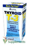 Thyroïde Nutrition absolue T3, 60-Count