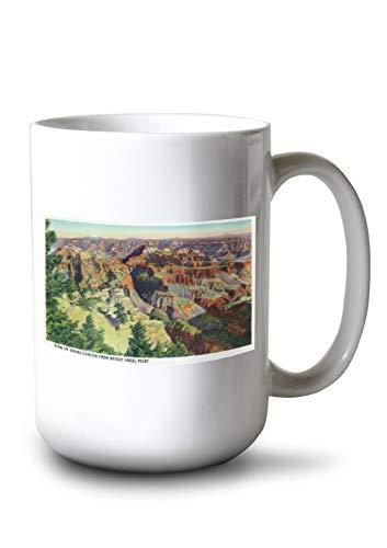 Lantern Press Grand Canyon National Park, Arizona - Bright Angel Point View of The Grand Canyon (15oz White Ceramic Mug)