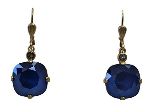 Ayala Designer Earrings (Catherine Popesco La Vie Parisienne Swarovski Crystal Drop Earrings Royal Blue)