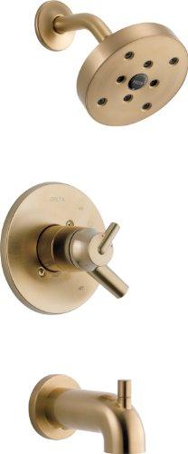 (Delta Faucet T17459-CZ Triassic, 17 Series MultiChoice Tub/Shower Trim, Champagne Bronze )