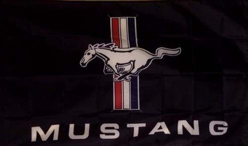 V6 Pony (FORD MUSTANG GT 350 500 V6 SHELBY PONY BADGE EMBLEM LOGO RACING BLACK FLAG BANNER SIGN ADVERTISEMENT 3X5)