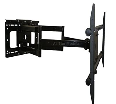 "Large Dual Arm Full Motion Wall Mount for Samsung Sony Panasonic Sharp LG Vizio 46""-75"" LCD LED PLASMA TVs **Extends 37in off Wall**"
