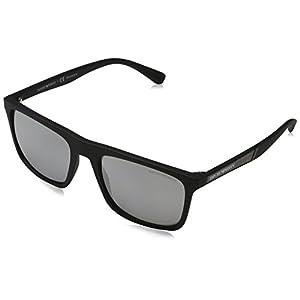 Emporio Armani EA 4097 Matte Black/Silver 56/19/145 Men Sunglasses