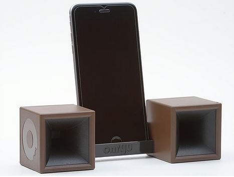 Sound Booster Portable Stand Sound Amplifier No Power Extra Loud Speakers for Mobile Devices (BROWN / BLACK)