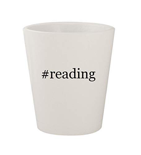 Price comparison product image reading - Ceramic White Hashtag 1.5oz Shot Glass
