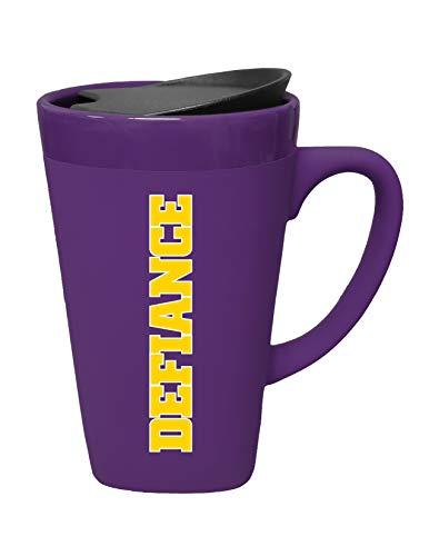 The Fanatic Group Defiance College Ceramic Mug with Swivel Lid, Design-2 - Purple
