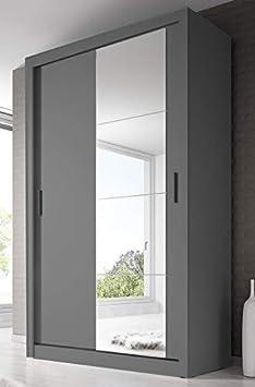 Arthauss - Armario de Puerta corredera con Espejo para Dormitorio ...