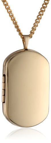 Hand Polished18k Gold-Plated Oblong 26mm (1
