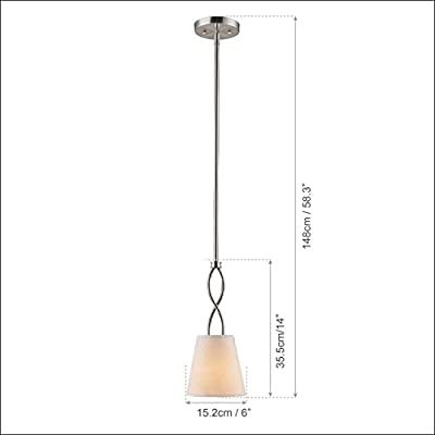 Claxy® Ecopower Light Brush Nickel Stem Pendant Lighting Fixture