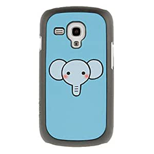 Cutty Elephant Drawing Pattern Protective Hard Back Cover Case for Samsung Galaxy S3 Mini I8190